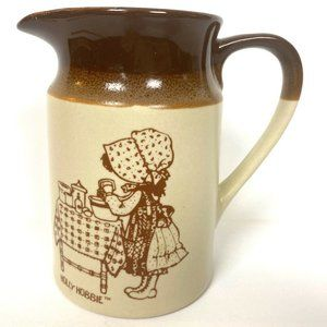 Vintage Holly Hobbie Cream Pitcher Vase 1979 70s